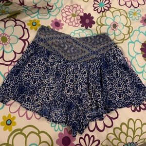 Blue patterned Urban Outfitters Shorts